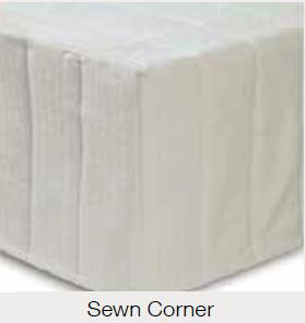 Sewn down corner