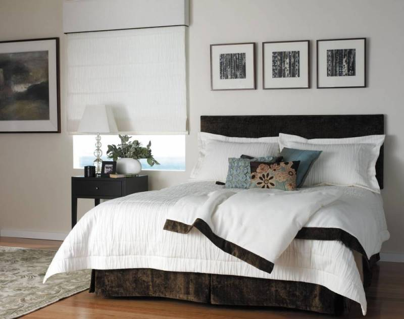 Heather upholstered bedhead