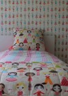 Custom made doona cover, wallpaper, bed throw