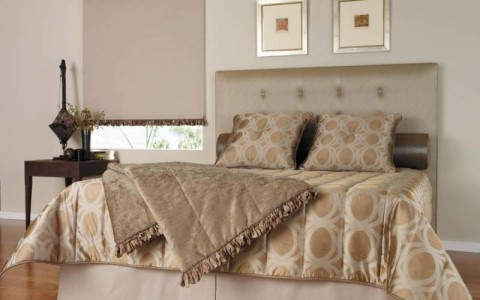 Lily bedhead (with optional buttons) & channel quilted bedspread