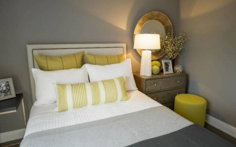 Matilda bedhead (with option studs) & custom cushions