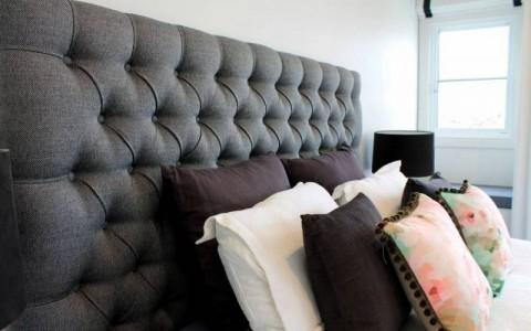 Savanah custom made bedhead (client Kate Halpin, Brighton VIC)