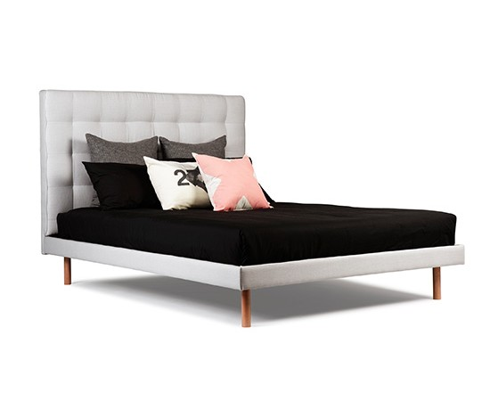 Padded bed, upholstered bed, fabric bed